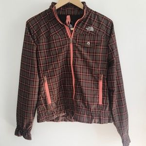 Plaid North Face Jacket with Ruffles